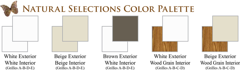 NH Cabernet Window Series Natural Selections Color Palette Vinyl Replacement & New Construction Windows