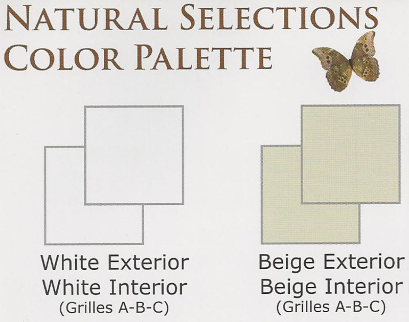NH Horizon Window Series Natural Selections Color Palette Vinyl Replacement & New Construction Windows